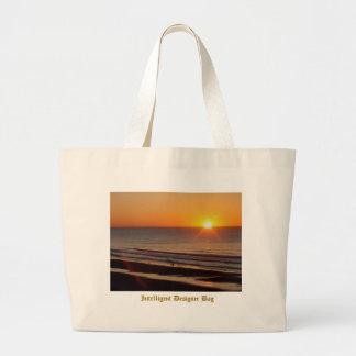 Saco inteligente do desenhista - nascer do sol da  bolsa para compras