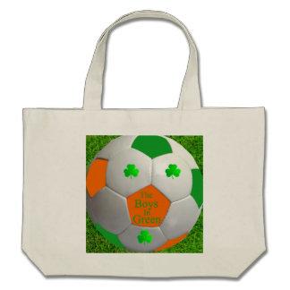 Saco irlandês do futebol bolsas