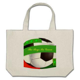 Saco irlandês do futebol bolsas para compras