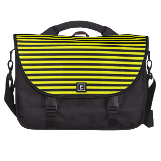 Saco listrado amarelo preto do laptop da viagem ao bolsas para computador portátil