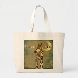Saco maternal do amor dos girafas de bronze dourad bolsas para compras