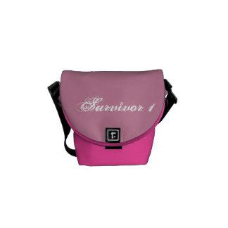 Saco pequeno cor-de-rosa cor-de-rosa e bolsas mensageiro