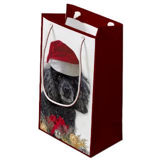Saco pequeno do presente do cão de caniche do sacola para presentes pequena