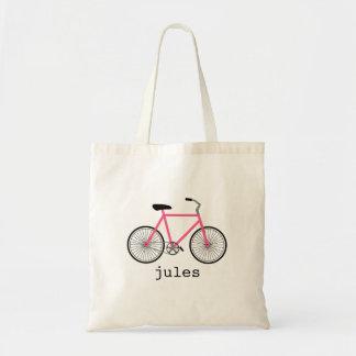 Saco personalizado bicicleta do rosa quente bolsa para compra