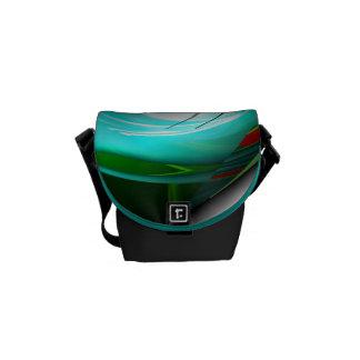 Saco projetado verde e vermelho da cerceta bolsas mensageiro