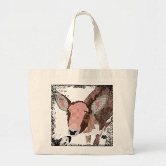 Saco querido da arte dos cervos do vintage bolsas de lona