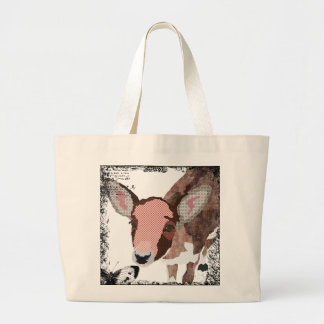 Saco querido da arte dos cervos do vintage sacola tote jumbo