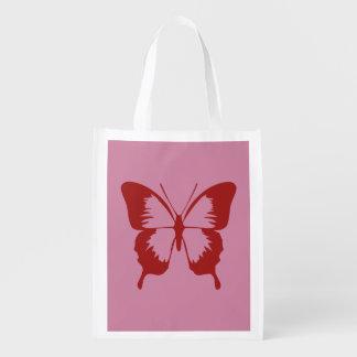 Saco reciclável da natureza da borboleta sacola ecológica