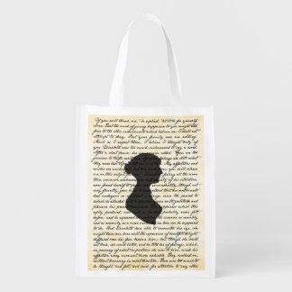 Saco reusável de Jane Austen do orgulho e do Sacola Ecológica