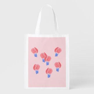 Saco reusável dos balões de ar sacolas ecológicas