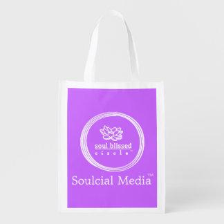 Saco reusável dos meios de Soulcial Sacola Ecológica Para Supermercado