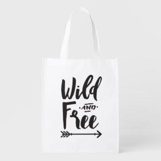 Saco reusável selvagem & livre sacolas ecológicas
