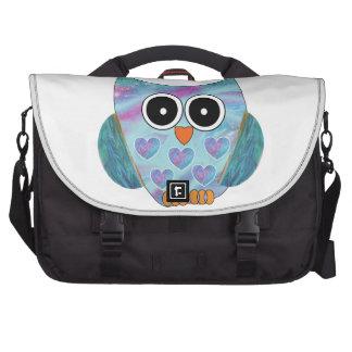 Saco temático da viagem ao trabalho da coruja mochila para laptop