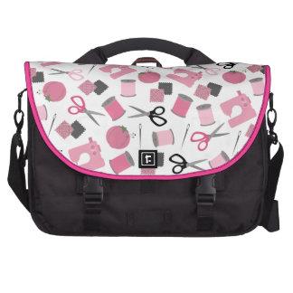 Saco temático Sewing cor-de-rosa do laptop Pasta Para Notebook