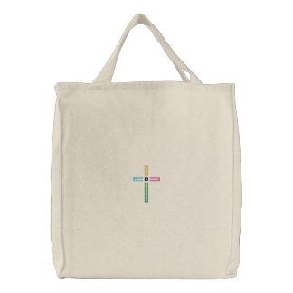 Saco transversal do evangelho bolsa tote bordada