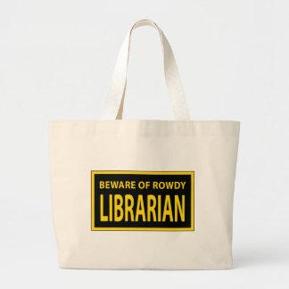 Saco turbulento do bibliotecário bolsa