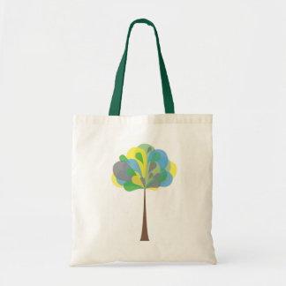 Saco verde da árvore bolsa tote