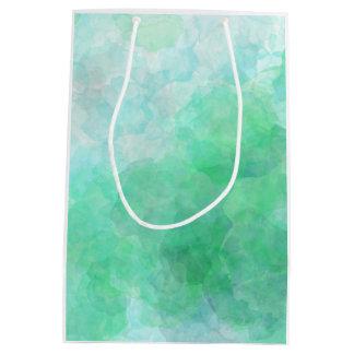 Saco verde pastel abstrato do presente da textura sacola para presentes média