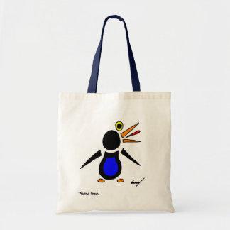 Sacola abstrata do pinguim sacola tote budget