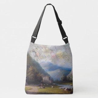 Sacola alpina da cidade das flores & dos cumes do bolsa ajustável