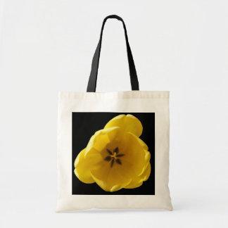 Sacola amarela da tulipa sacola tote budget