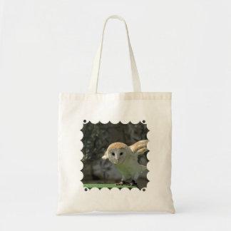 Sacola ambiental da coruja de celeiro bolsa para compra