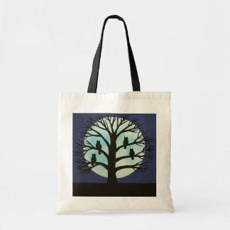 Sacola assustador do orçamento da árvore e da bolsa tote
