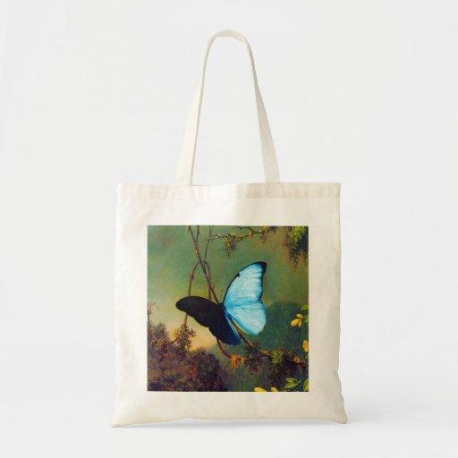 Sacola azul da borboleta de Morpho Bolsa