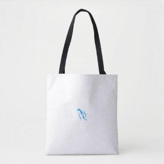 Sacola azul do pinguim bolsas tote