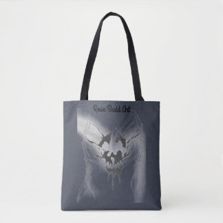 sacola azul escuro com aranha do crânio bolsa tote
