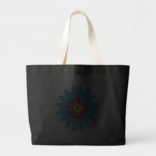 Sacola azul Funky do preto da flor dos desenhos an Bolsa Para Compras