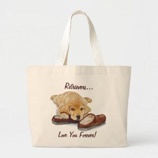 sacola bonito da arte de labrador retriever do cão bolsas para compras