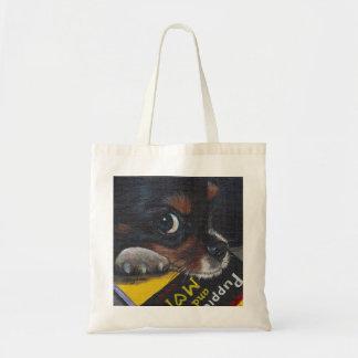 sacola bonito do cão e do livro sacola tote budget