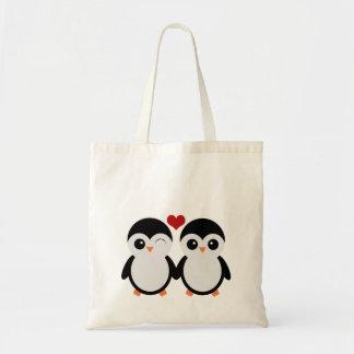 Sacola bonito dos pinguins sacola tote budget