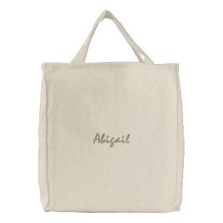 Sacola bordada personalizada do roteiro bolsas para compras