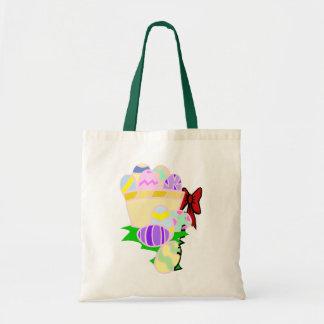 Sacola colorida da páscoa bolsa de lona