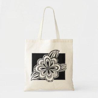 Sacola com desenho da flor sacola tote budget