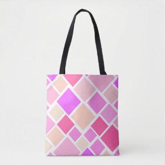 Sacola cor-de-rosa do bloco de cidade bolsas tote