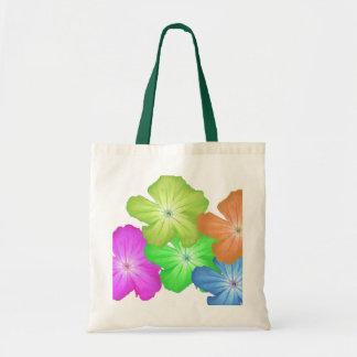 sacola customizável da criança de flor bolsas para compras