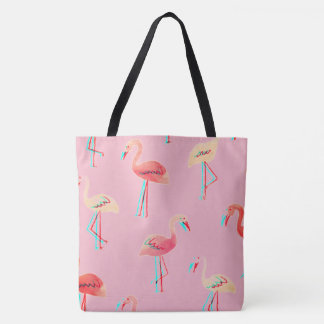 sacola customizável do flamingo 3D Bolsa Tote
