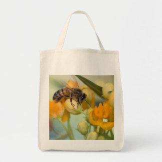 Sacola da abelha do mel na primavera sacola tote de mercado