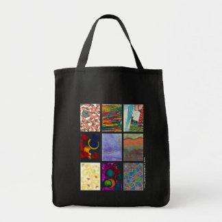 Sacola da arte abstracta sacola tote de mercado
