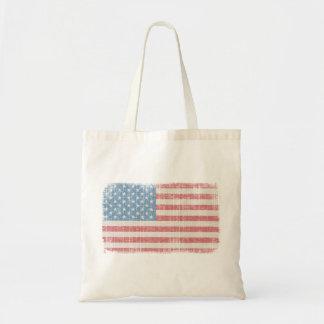 Sacola da bandeira americana do vintage bolsa tote