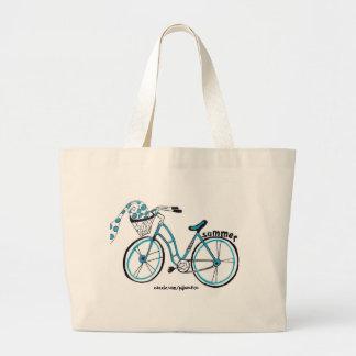 Sacola da bicicleta bolsa tote grande