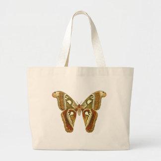 Sacola da borboleta do vintage bolsa tote grande
