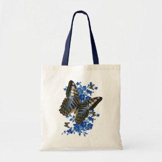 Sacola da borboleta - saco da borboleta e da flor sacola tote budget