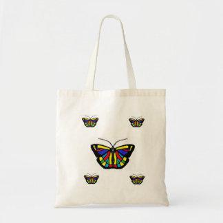 Sacola da borboleta sacola tote budget