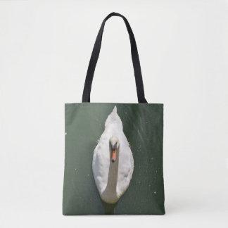 Sacola da cisne da natação bolsa tote