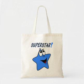 Sacola da estrela azul dos desenhos animados bolsa tote