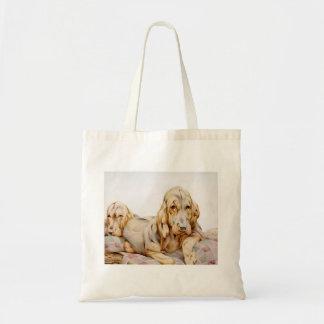 Sacola da ilustração das crianças do Bloodhound Bolsa